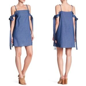 Lucca Couture Side Tie Mini Cold Shoulder Dress